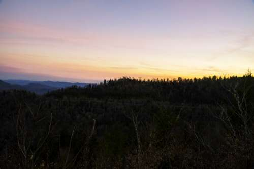 Dusk over the Blue Ridge Mountains in Great Smoky Mountains National Park, Tennessee free photo