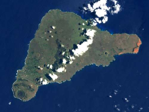 Easter Island from Space, Chile free photo