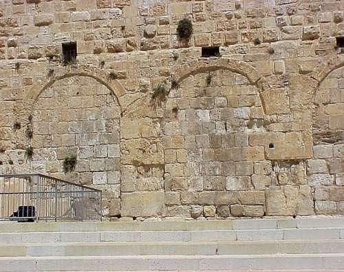 Eastern Huldah Gate of the Temple Mount in Jerusalem, Israel free photo