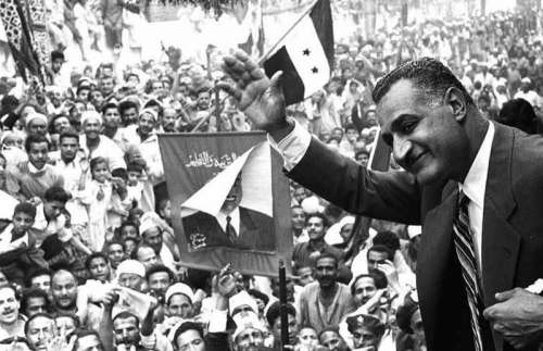 Egyptian President Gamal Abdel Nasser in Mansoura in Egypt free photo