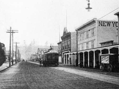 Eighth Street, 1884 in Hoquiam, Washington free photo