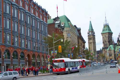 Elgin Street in downtown Ottawa, Ontario, Canada free photo