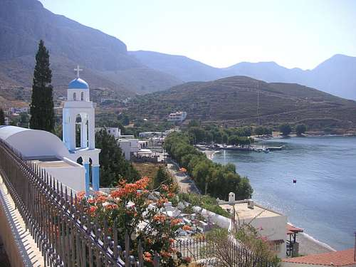 Emborios in the northernmost part of the island in Kalymnos, Greece free photo