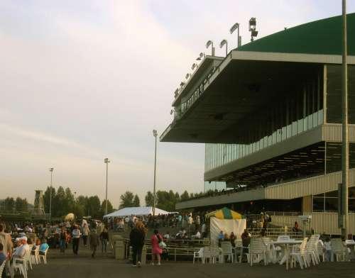 Emerald Downs seating in Auburn, Washington free photo