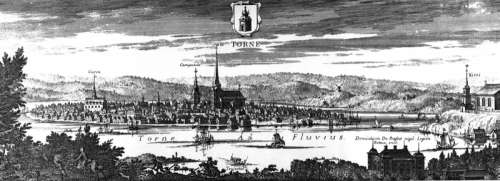 Engraving from the period of Swedish administration of Tornio, Finland free photo