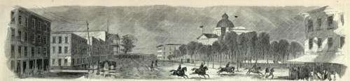 Engraving of the Capture of Jackson, Mississippi by Union Forces in 1863 free photo