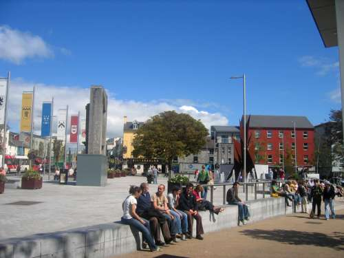 Eyre Square in the city of Galway free photo