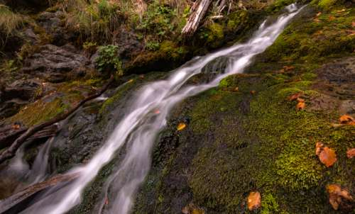 Falling Water in the outdoors nature  free photo