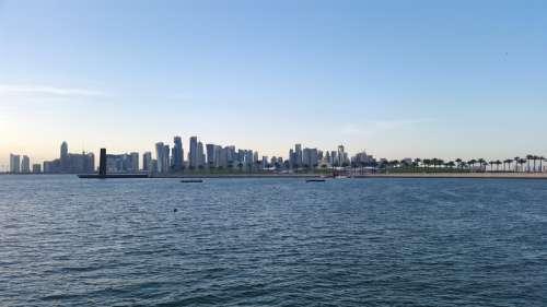 Far off Skyline in Doha, Qatar free photo