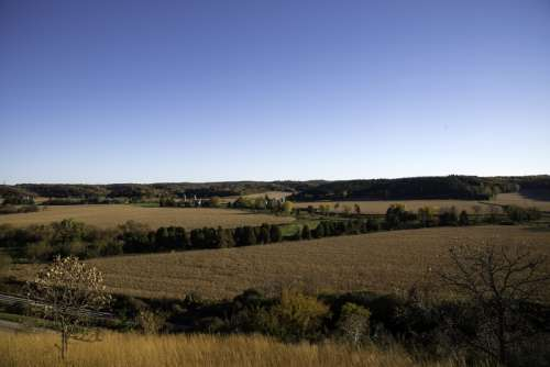 Farm and landscape in Wisconsin free photo