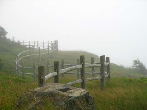 Fence at Cloture Point in Nova Scotia, Canada free photo