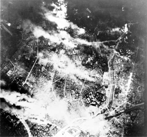 Firebombing of Tokyo during World War II free photo