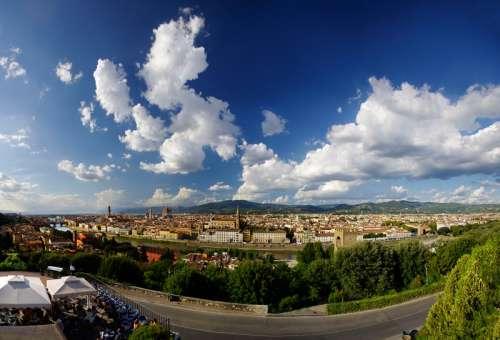 Fisheye View of Florence free photo