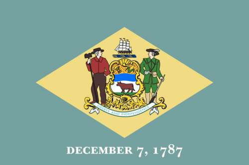 Flag of Delaware free photo