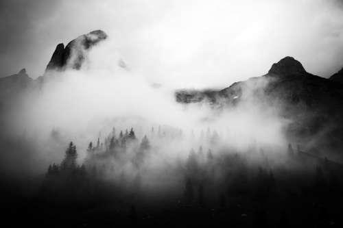 Fog and Mist over the mountains in Gemeinde Annaberg Lungotz Austria free photo