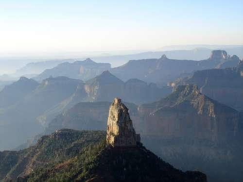 Foggy Grand Canyon Landscape in Arizona free photo