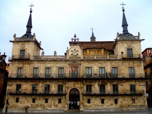 The Former City Hall of Leon, Spain free photo