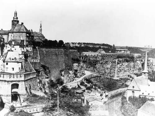 Fortress of Luxembourg  before 1867 demolition free photo