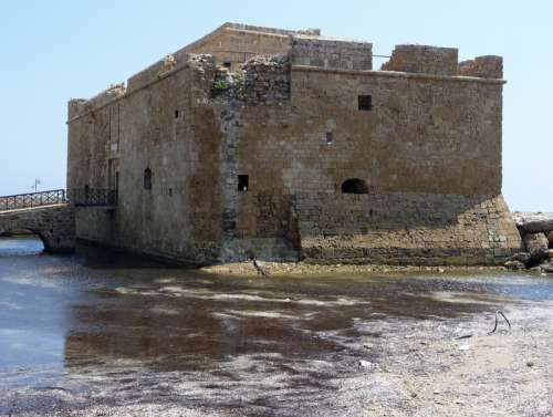 Fortress on the seaside in Paphos, Cyprus free photo