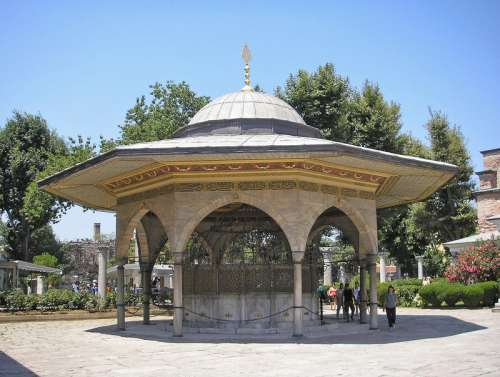 Fountain for ritual ablutions in Istanbul, Turkey free photo