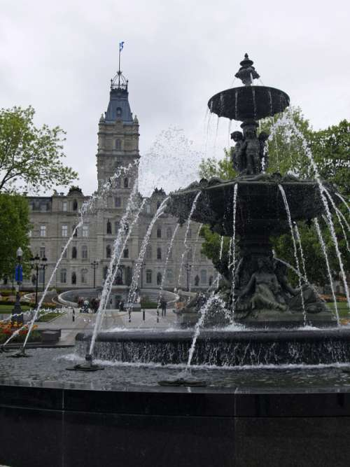 Fountains of Water in Quebec City, Canada free photo
