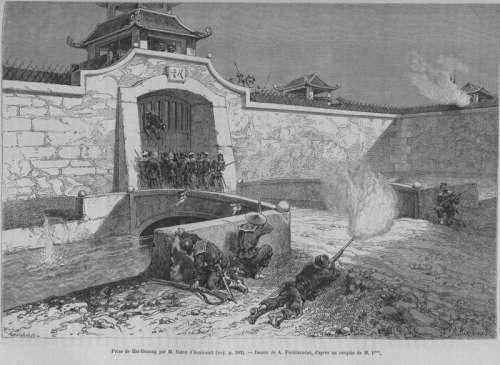 France attack Hai Duong citadel in Hanoi, Vietnam free photo