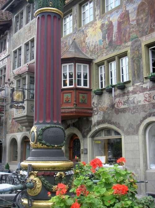 Frescoes in Stein am Rhein, Switzerland free photo