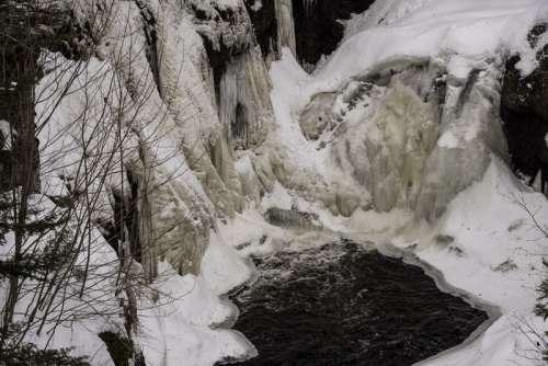 Frozen Waterfall at Cascade River State Park, Minnesota free photo
