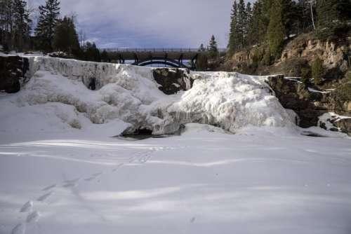 Frozen Waterfalls at Gooseberry Falls State Park, Minnesota free photo