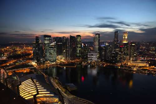 Full Cityscape view of Singapore free photo