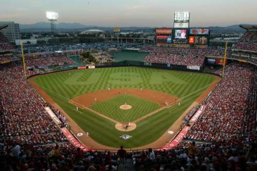 Full Overview of the Anaheim Angel's Stadium in California free photo