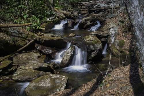 Full Set of Cascading Rapids at Anna Ruby Falls, Georgia free photo