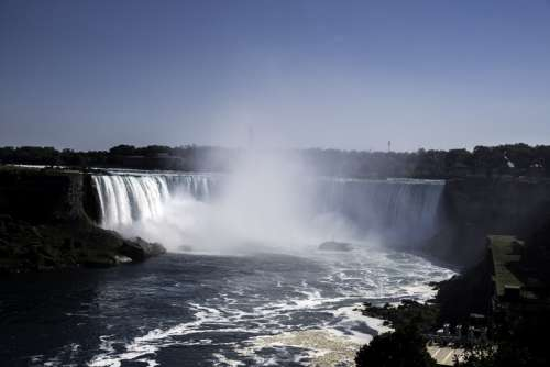 Full View of Horseshoe Falls at Niagara Falls, Ontario, Canada free photo