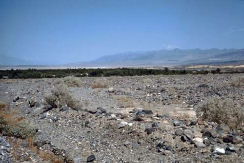 Furnace Creek oasis landscape at Death Valley National Park, Nevada free photo