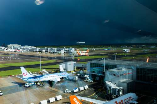 Gatwick airport in London, England free photo