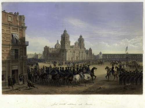 General Scott's entrance into Mexico City, 1851 free photo