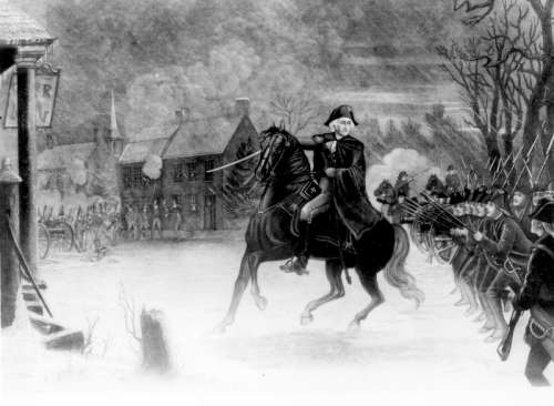 George Washington at the Battle of Trenton, New Jersey free photo