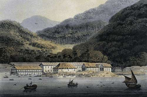 George Town in 1811, Panoramic View in Malaysia free photo