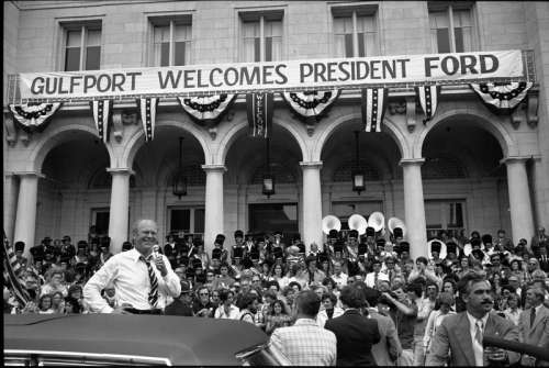 Gerald Ford visits Gulfport, Mississippi in 1976 free photo