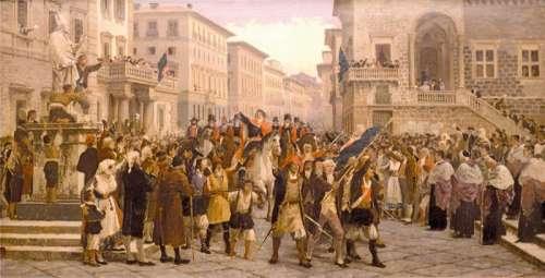 Giovanni Maria Angioy, the Emissary of the Viceroy enters Sassari, Italy free photo