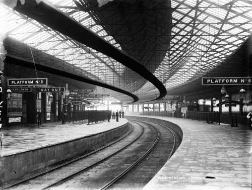 Glanmire Road Station in the 1890s in Cork, Ireland free photo