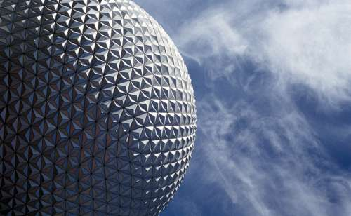 Golf Ball Structure at Epcot, Orlando, Florida free photo