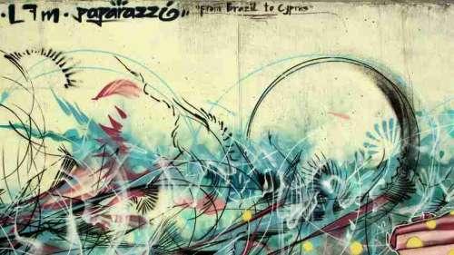 Graffiti on walls in Cyprus free photo