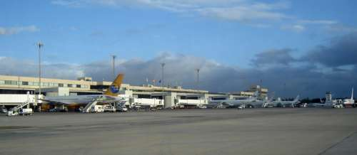 Gran Canaria Airport in Las Palmas, Spain free photo
