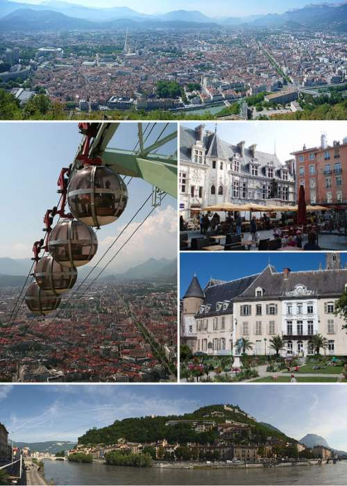 Grenoble, France collage free photo