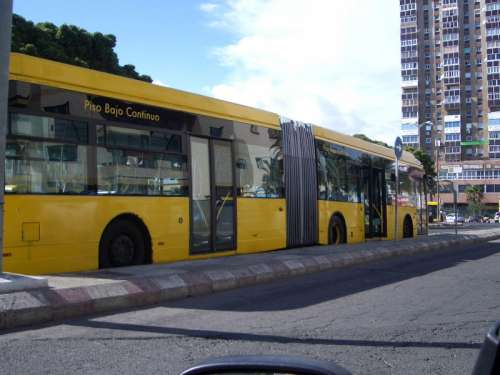 Guaguas Municipales Bus in Las Palmas, Spain free photo