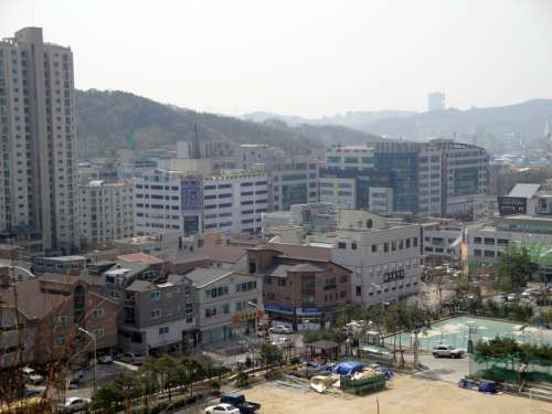 Gugal-dong Yongin cityscape in South Korea free photo