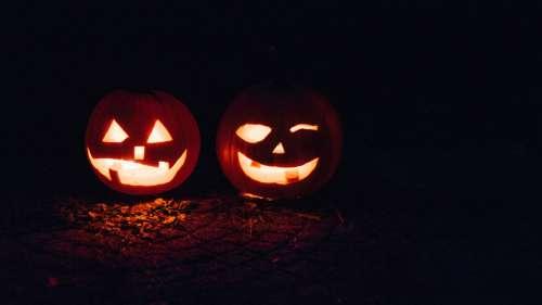 Halloween Jack-O-Lantern Faces free photo