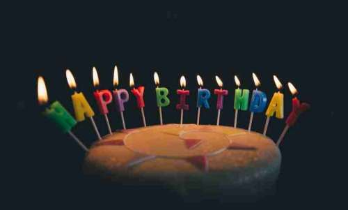 Happy Birthday Candles on Cake image free photo