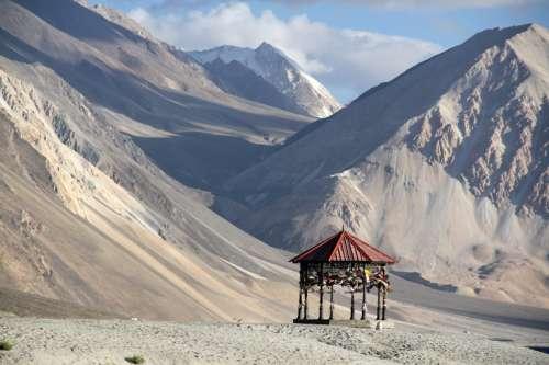 High Mountains near the India-China Border landscape free photo